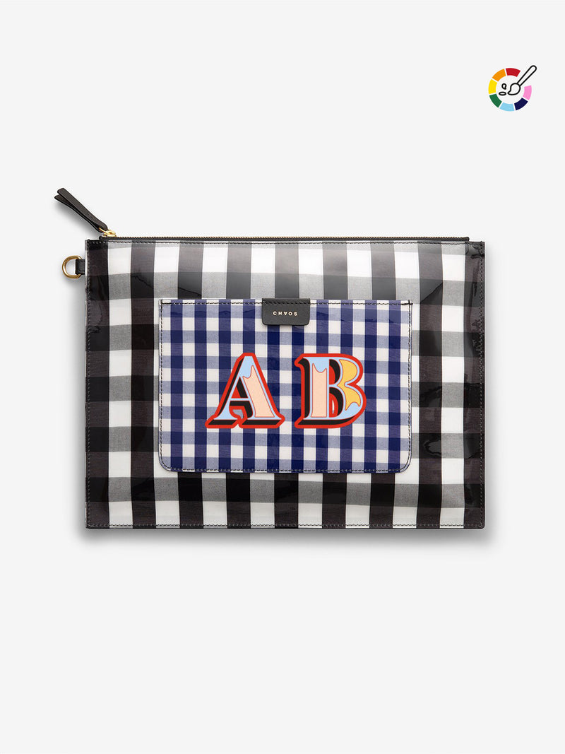 Custom Gingham Clutch