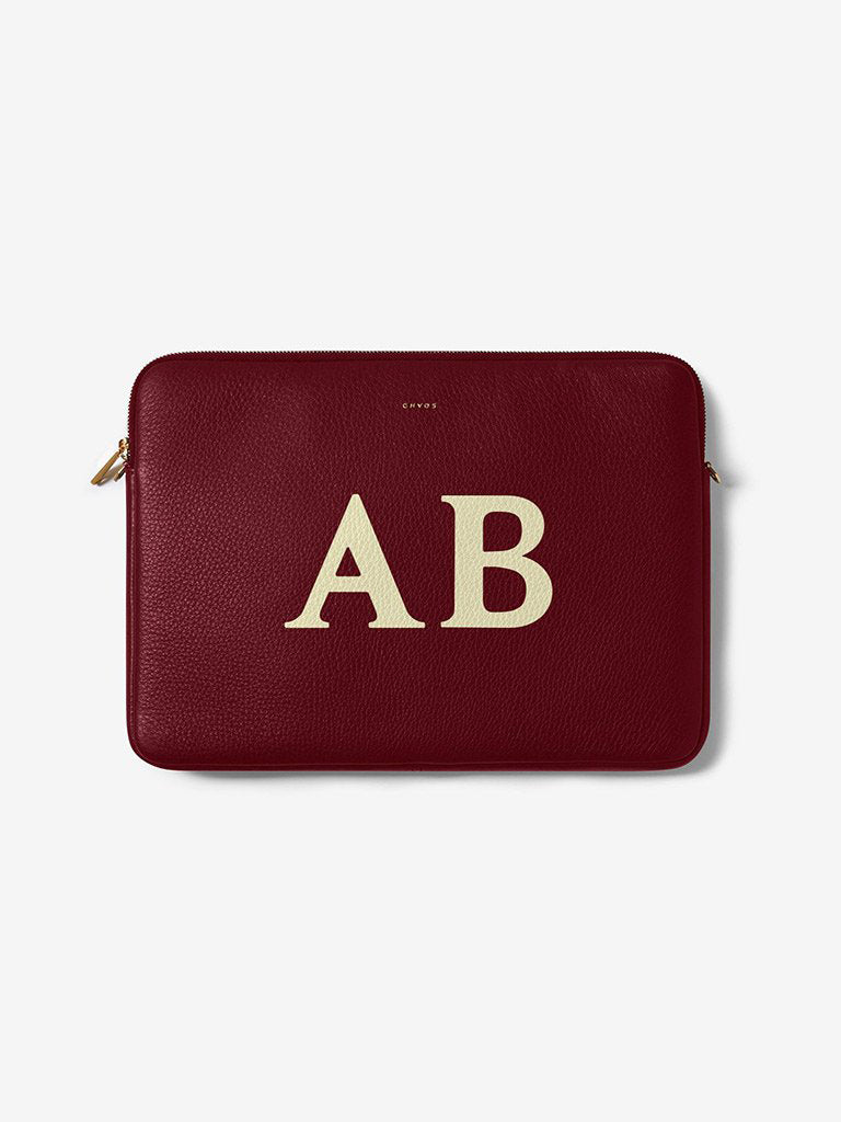 Classic Font Leather Laptop Cover