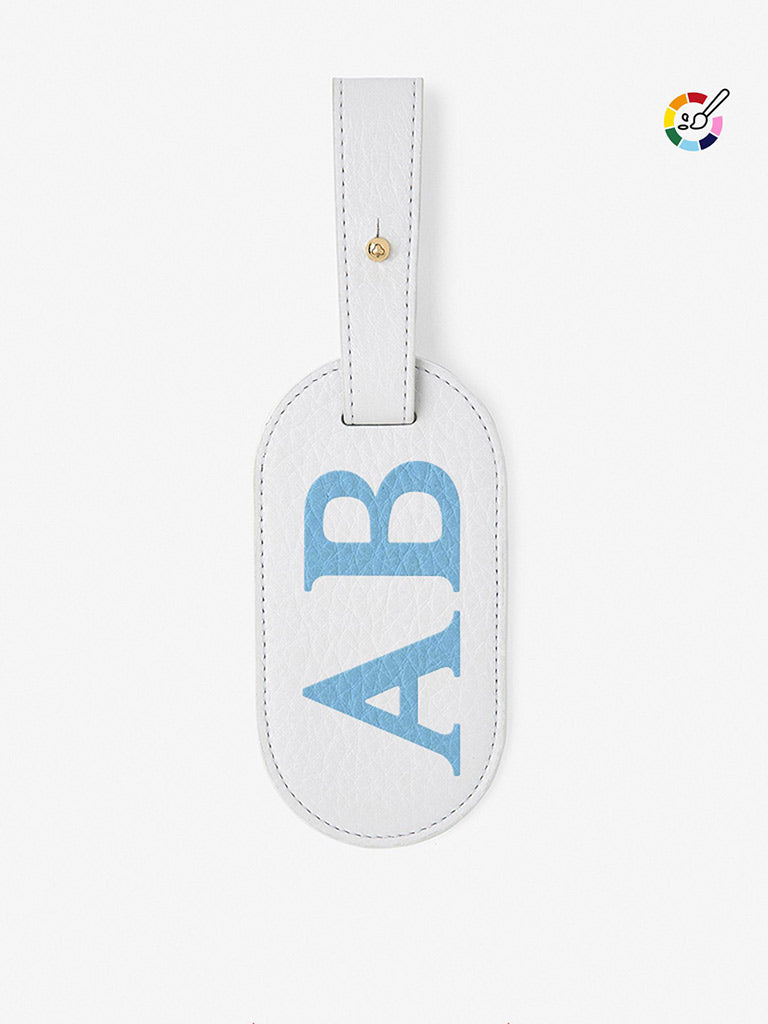 Classic Font Leather Luggage Tag