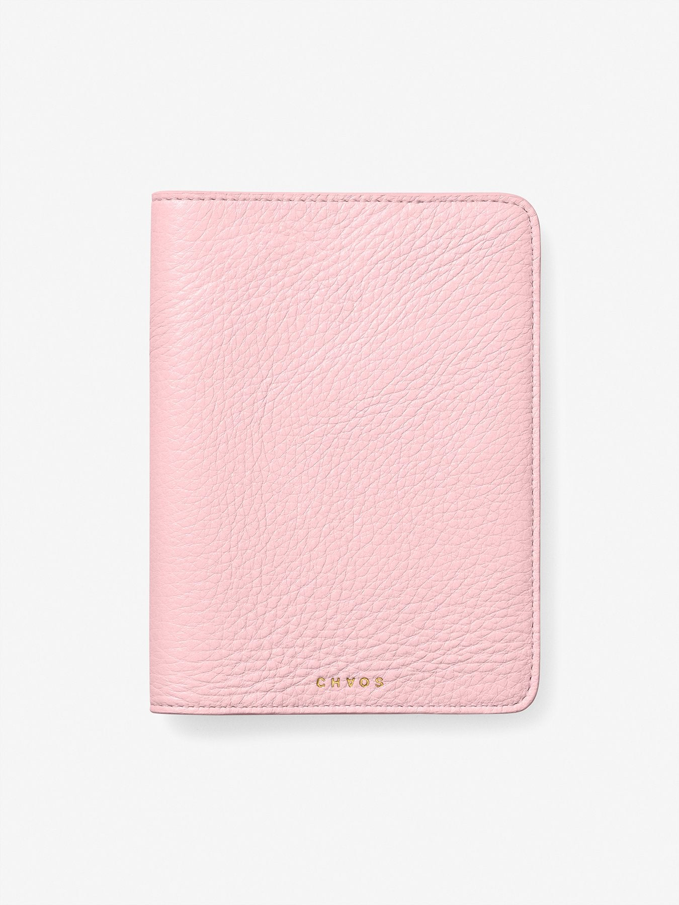 Classic Leather Passport Holder Pink