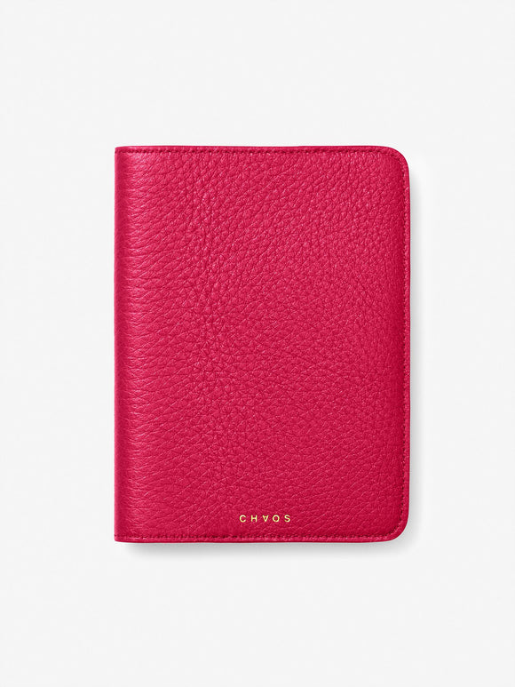 Classic Leather Passport Holder Fuchsia