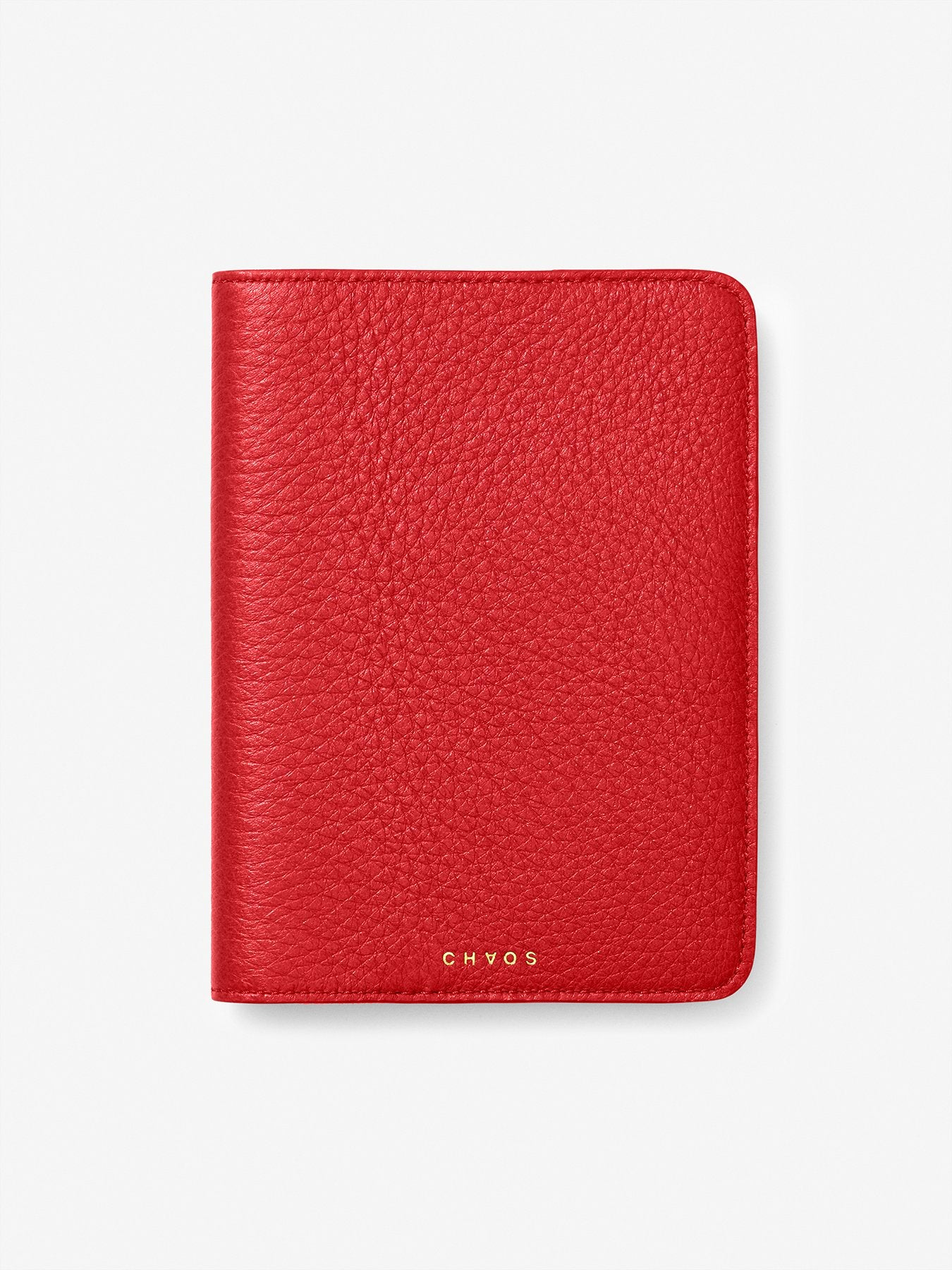 Classic Leather Passport Holder Red