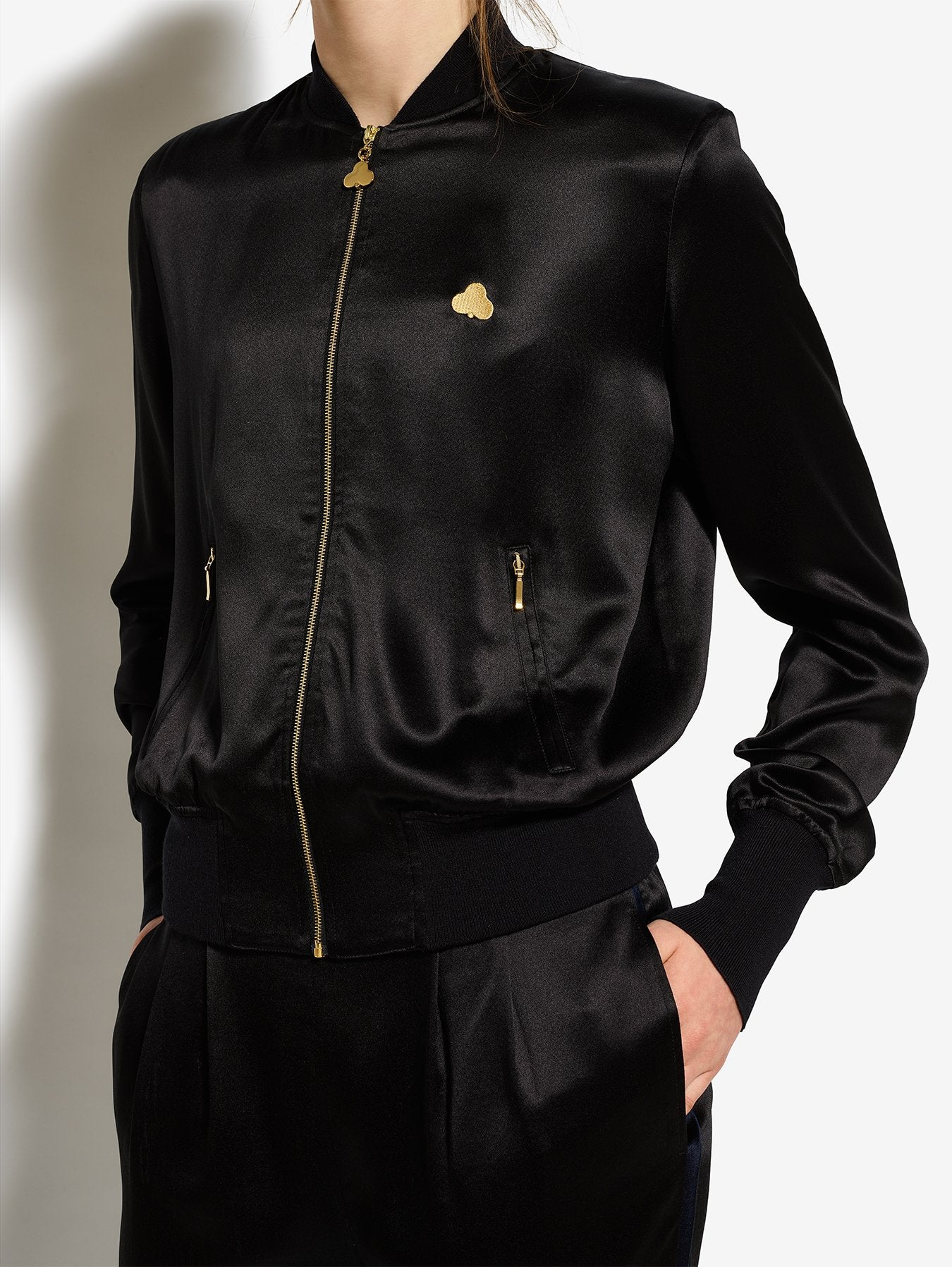 Bruv Club Silk Tracksuit Jacket - Black