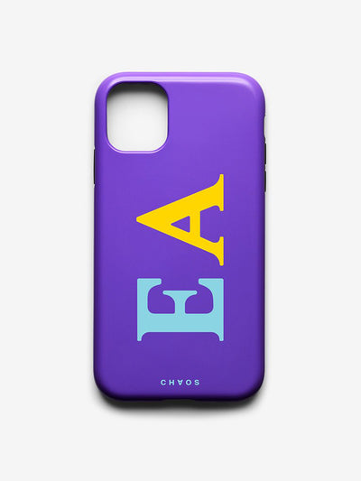 Classic Font Chaotic iPhone Case