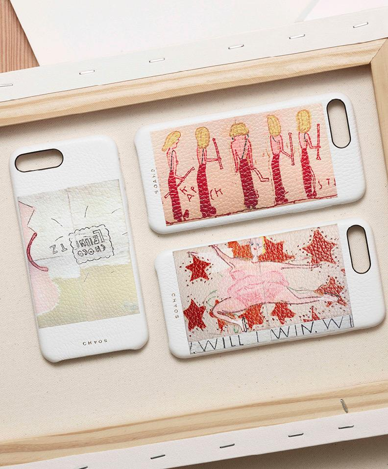Chaos X Rose Wylie with The Serpentine Galleries Classic Leather iPhone Cases Collection