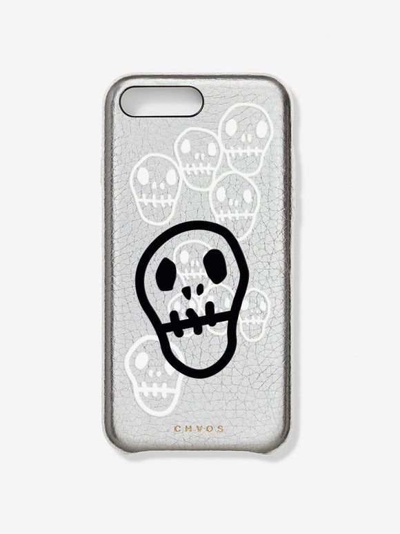 Chaos X Hayden Kays Custom Skulls Metallic Leather iPhone Case