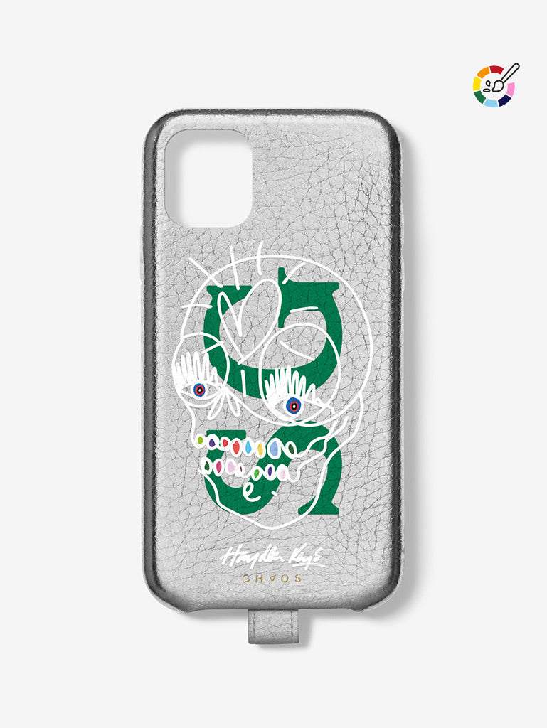 Hayden Kays Metallic 'Skullduggery' Leather Custom iPhone Case
