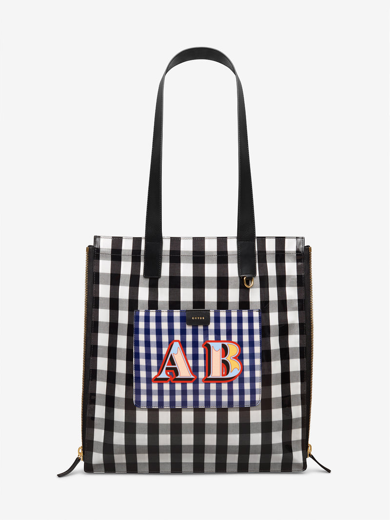 Custom Gingham Tote Bag