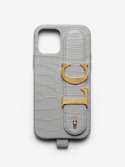 Faux Alligator Leather Charm Hand Hug iPhone Case