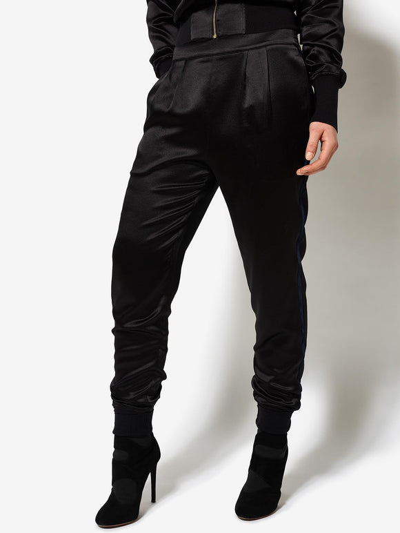 Bruv Club Silk Tracksuit Trousers - Black