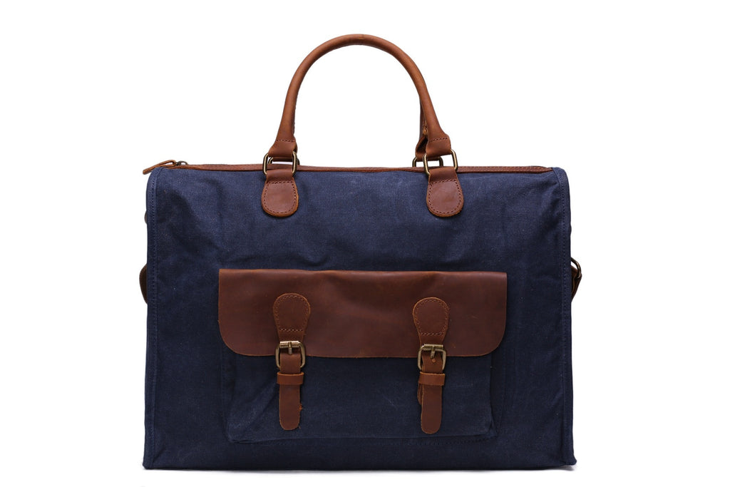 Blue Briefcase messenger bag