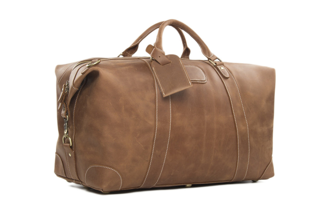Brown weekender bag
