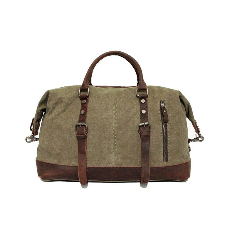 Green Canvas duffel bag
