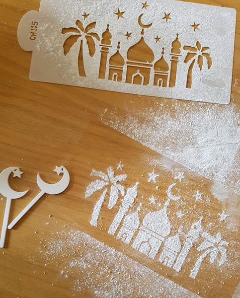 Arabian Nights Cake Stencil