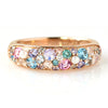 Pave Ring in 18k gold -Snow Bouquet-