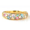 Pave Ring in 10k gold -Snow bouquet-