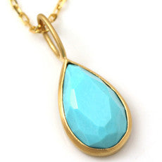 Turquoise Necklace Top in 18k gold -Selena-
