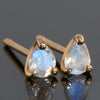 Blue moonstone earrings in 18k gold -Poele-