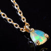 Opal necklace in 18k gold -Poele-