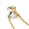 Herkimer Quartz necklace in 18k gold -Fragment Gran-