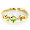 Green Garnet in 18k gold -Berenice-