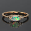 Opal ring in 18k gold with diamonds -Flavie-