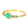 Paraiba Tourmaline ring in 18k gold -Pluie-