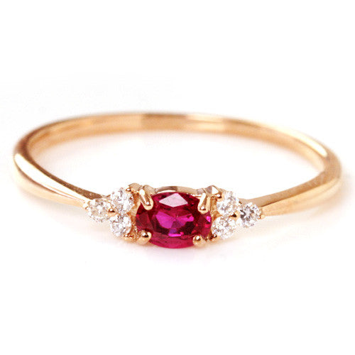 Ruby ring in 18k gold -Flavie-