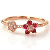 Ruby ring in 18k gold -Bloom-