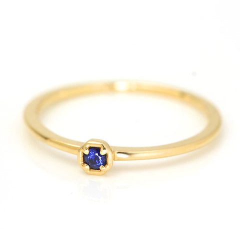 Blue Sapphire ring  in 18k gold -Anne-