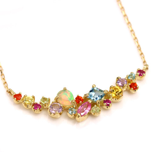 Coffret Necklace in 18k gold -Pastel-
