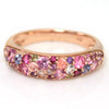 Pave Ring in 18k gold -pink bouquet-