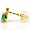 Emerald earrings in 18k gold -Flavie-