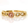 Imperial Topaz ring in 18k gold with diamonds -Sort-