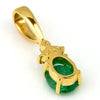 Emerald necklace top in 18k gold -Flavie-