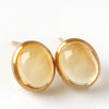 Citrine earrings in 18k gold -Plump-