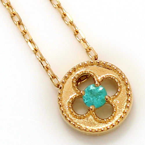 No.2 Paraiba Tourmaline necklace in 18k gold -Alham-