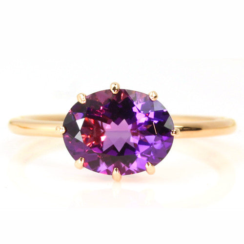 Amethyst ring in 18k gold -Cepage-