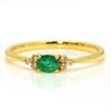 Emerald ring in 18k gold -Flavie-