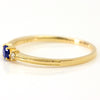 Cornflower Blue Sapphire ring  in 18k gold -Lucile-
