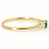Paraiba Tourmaline ring in 18k gold with diamonds -Liddy-