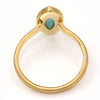 No. 5 Turquoise ring in 18k gold -Selena-