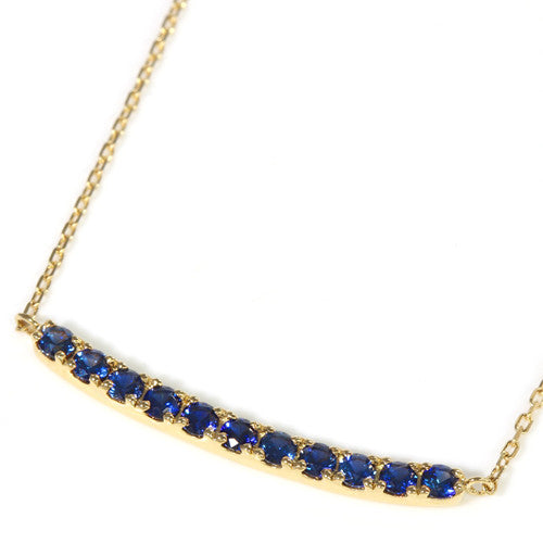 Cornflower Blue Sapphire necklace in 18k gold -Emma-