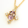 Ametrine necklace in 18k gold -Brigitte-