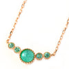 Paraiba Tourmaline necklace in 18k gold -Pluie-