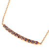 Color Change Garnet necklace in 18k gold  -Emma-