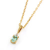 Mint Green Beryl necklace in 18k gold -Flavie-