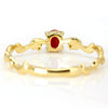 Red Coral ring in 18k gold -Vague-