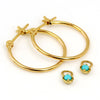 Turquoise earrings in 18k gold -Eliane-