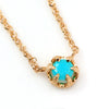 Turquoise necklace in 18k gold -Fleula-